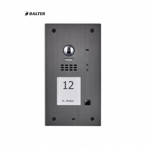 BALTER EVIDA Graphit RFID Edelstahl-Türsprechanlage Türstation