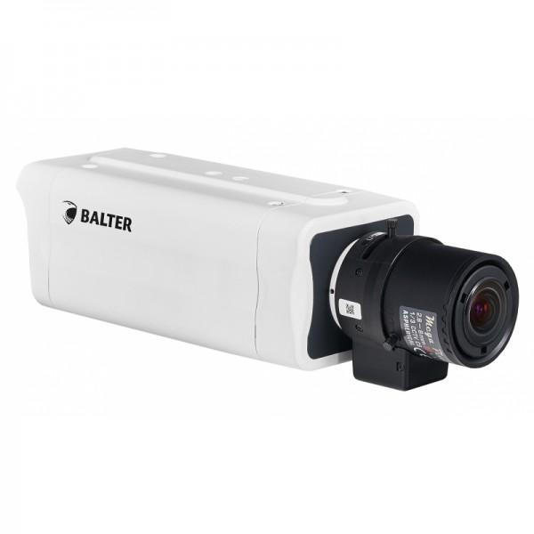 BALTER 4.0MP Box-Kamera, 2592x1520p, WDR 120dB, H.265, Videoanalyse, C/CS, microSD